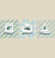 three colored labels vector image