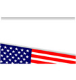 usa flag symbols patriotic frame corner vector image vector image