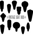 vintage light bulb silhouette vector image vector image