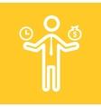 Worker Money Time vector image vector image