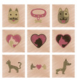 assembly flat shading style icons dogs cats pets vector image