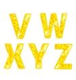 Diamond letters V W X Y Z vector image