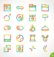 Highlighter Line Icons Set 5 vector image