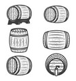 set of beer barrels isolated on white background vector image