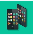 Smartphone isometric and front view vector image