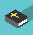 simple isometric holy bible vector image