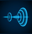 abstract digital sound wave radial sonar waves vector image vector image