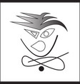 angry face image vector image