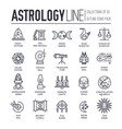 astrology house thin line icons design vector image
