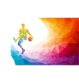 Basketball player jump shot polygonal silhouette vector image vector image