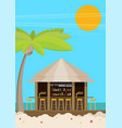 beach bar flat vector image