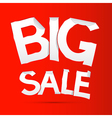 Big Sale Sticker - Label on Red background vector image