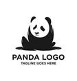 black panda logo vector image vector image