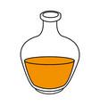 black silhouette bottle with liquid orange oil vector image vector image