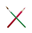 brush and pencil vector image vector image