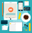 Business concept Infographics background vector image vector image