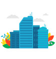 business construction high building city vector image vector image