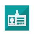 card identification isolated icon vector image vector image