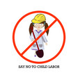 concept for a world day against child labour vector image vector image