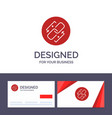 creative business card and logo template link vector image vector image