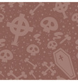 Creepy cartoon Halloween seamless texture vector image vector image