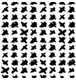 Cross hand drawn seamless pattern