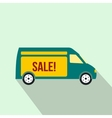 Delivery truck icon flat style vector image vector image