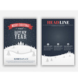 Design Christmas and New Year flyer vector image