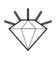 diamond stone cartoon vector image