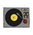 dj turntable icon vector image