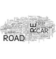 eight tips for the road ahead text background vector image vector image