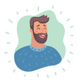 emotion avatar man happy successful face vector image