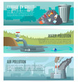 Environmental Pollution Banners Set vector image vector image