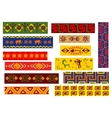 ethnic african patterns with tribal ornaments vector image