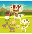 Farm Frenzy With Field Full Of vector image