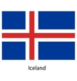Flag of the country iceland vector image