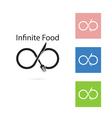 Fork and knife logo elements design vector image