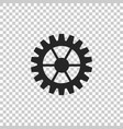 gear icon on transparent background cogwheel sign vector image