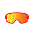 glasses winter accessory for extreme ski sport vector image vector image