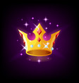 gold crown with precious stones and sparkles slot vector image vector image