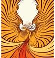 Golden Phoenix vector image vector image