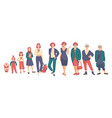 growing up and age stages woman life cycle vector image