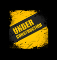 Grunge under construction texture background vector | Price: 1 Credit (USD $1)