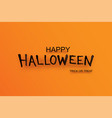 halloween party invitation with text on orange vector image