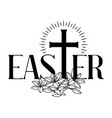 happy easter concept cross and vector image vector image