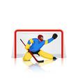 hockey goal keeper vector image vector image