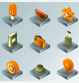 holidays color gradient isometric icons vector image