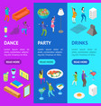home party concept with furniture and people vector image vector image