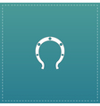 Horseshoe flat icon vector image