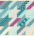 hounds-tooth patchwork pattern vector image
